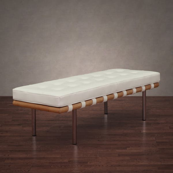 Prime Oliver James Nara White Leather Bench Caraccident5 Cool Chair Designs And Ideas Caraccident5Info