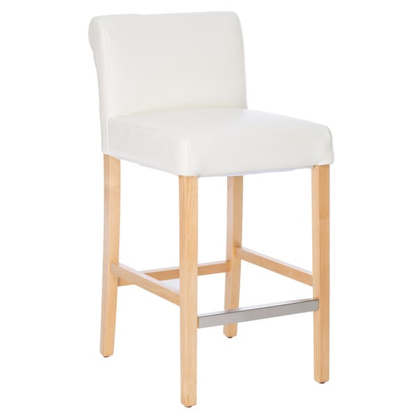 Cosmopolitan Modern White Bicast Leather Counter Stools (Set of 2) - Free Shipping Today - Overstock.com - 13358771  sc 1 st  Overstock.com & Cosmopolitan Modern White Bicast Leather Counter Stools (Set of 2 ... islam-shia.org
