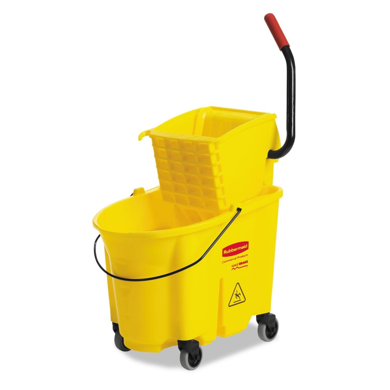 Rubbermaid Wavebrake 35-Quart Bucket/ Wringer, Yellow