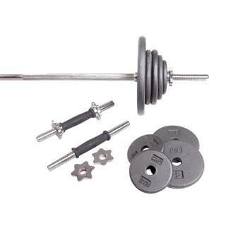 CAP Barbell Standard Grey 110-pound Weight Set