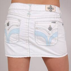 Laguna Beach Women's 'Sunset Beach' White Denim Mini Skirt - Free ...