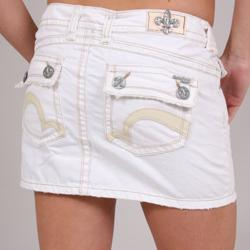 Laguna Beach Women's 'Salt Creek' White Denim Mini Skirt - Free ...