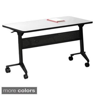 Mayline Flip-N-Go 48-Inch Rectangular Training Table