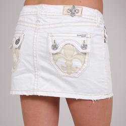 Laguna Beach Women's 'Hermosa Beach' White Denim Mini Skirt - Free ...