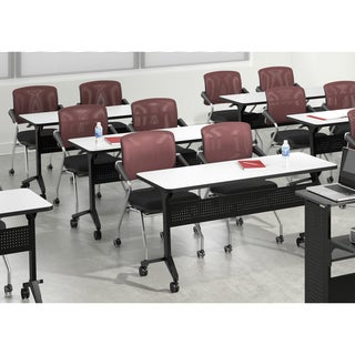 Mayline Flip-N-Go 60-Inch Rectangle Training Table