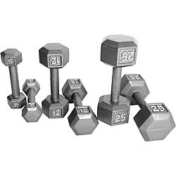 CAP Barbell 20-piece Cast Iron Hex Dumbbell Set