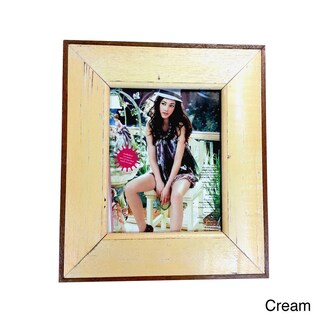 Handmade Recycled Boatwood 8x10-inch Picture Frame (Thailand) (Option: Cream)