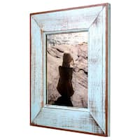 """Handmade Recycled Boatwood Picture Frame - 8"""" x 10"""" (Thailand)"""