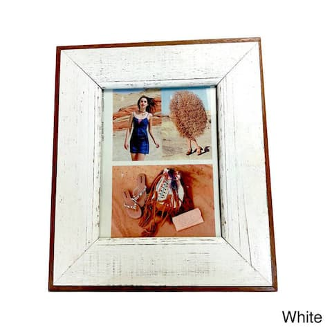 "Handmade Recycled Boatwood Picture Frame - 8"" x 10"" (Thailand)"