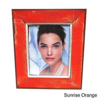Handmade Recycled Boatwood 8x10-inch Picture Frame (Thailand)