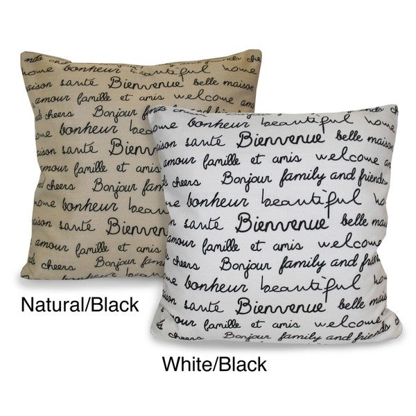 French Words Decorative Pillow - Free Shipping On Orders Over $45 - Overstock.com - 13360702