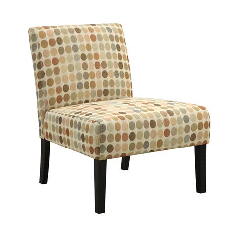 Handy Living Niles Beige Retro Dot Armless Chair