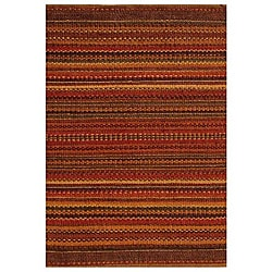 Sindhi Brown Handwoven Jute Area Rug (4' x 6')