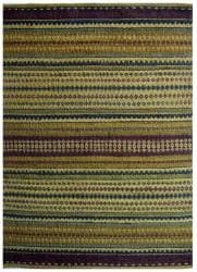 Handwoven Mohawk Green Striped Jute Rug (6' x 9') - Thumbnail 1