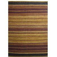 Hand-woven Mohawk Brown Jute Rug (6' x 9') - 6' x 9'