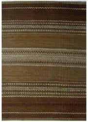 Hand-woven Sindhi Brown Jute Rug (6' x 9')