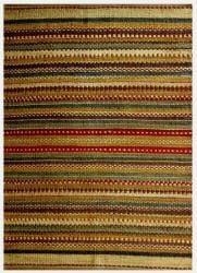 Hand-woven Mohawk Green Jute Rug (6' x 9') - Thumbnail 1