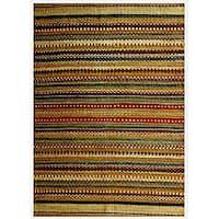 Hand-woven Mohawk Green Jute Rug (6' x 9') - 6' x 9'