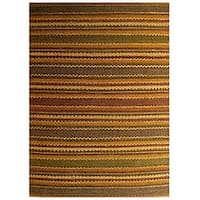 Handwoven Mohawk Brown Jute Area Rug - 6' x 9'