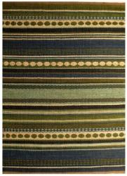 Hand-woven Mohawk Blue/ Green Stripe Jute Rug (6' x 9')