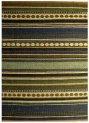 Hand-woven Mohawk Blue/ Green Stripe Jute Rug (6' x 9') - Thumbnail 2