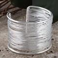 Silverplated Brass Wire Cuff Bracelet (India)