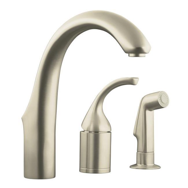 Kohler K-10441-BN Vibrant Brushed Nickel Forte Entertainment Remote Valve Sink Faucet With Sidespray