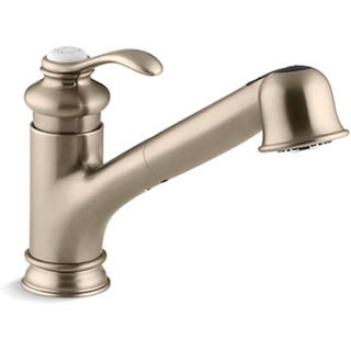 Kohler K-12177-BV Vibrant Brushed Bronze Fairfax Single-Control Pullout Kitchen Sink Faucet