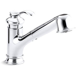 Kohler K-12177-CP Polished Chrome Fairfax Single-Control Pullout Kitchen Sink Faucet