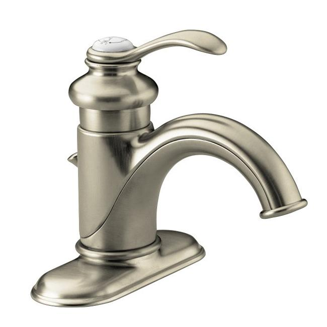 brushed nickel fairfax single control lavatory faucet with lever