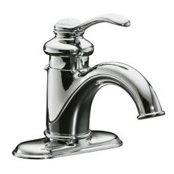 Kohler K-12181-CP Polished Chrome Fairfax Single-Control Lavatory Faucet With Lever Handle And Pop-Up Drain