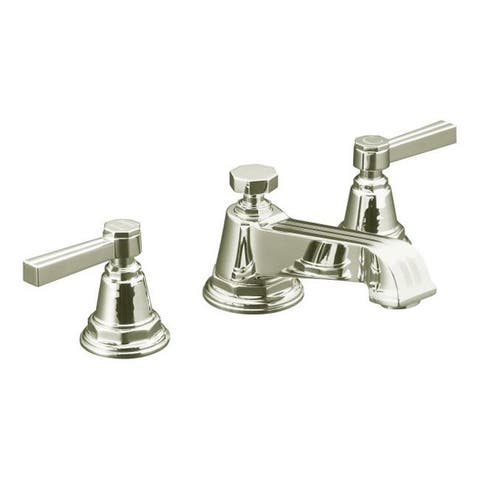 Kohler K-13132-4B-SN Vibrant Polished Nickel Pinstripe Widespread Lavatory Faucet With Lever Handles