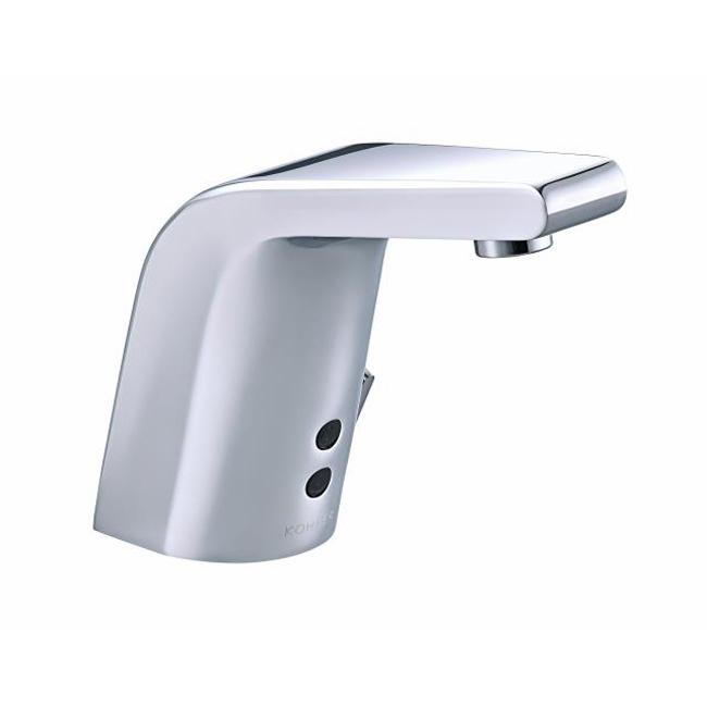 Shop Sculpted Touchless Temperature Mixer Commercial Bathroom Sink - Commercial bathroom faucets touchless