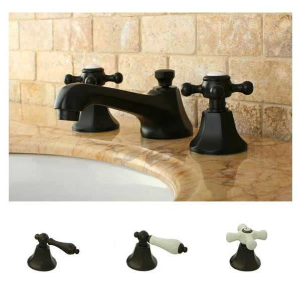Shop Metropolitan Oil-rubbed Bronze Widespread Bathroom Faucet - On Sale - Free Shipping Today - Overstock - 5597724