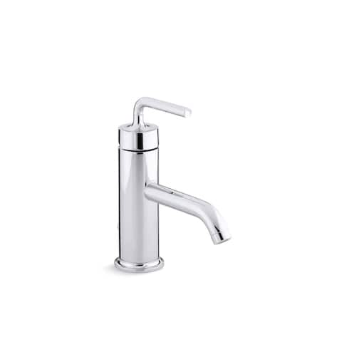 Purist(R) single-handle bathroom sink faucet with straight lever handle