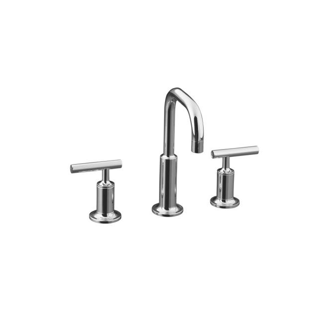 Shop Kohler K-14406-4-CP Polished Chrome Purist Widespread Lavatory ...