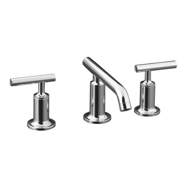 Kohler Purist Polished Chrome Low Lever Handles Bathroom Sink Faucet