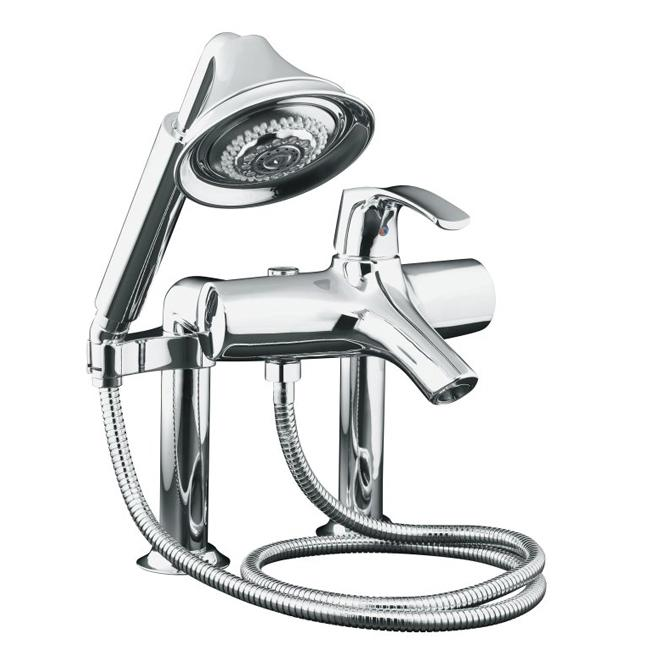 Kohler K 18486 4 Cp Polished Chrome Symbol Bath Faucet With Handshower Free Shipping Today