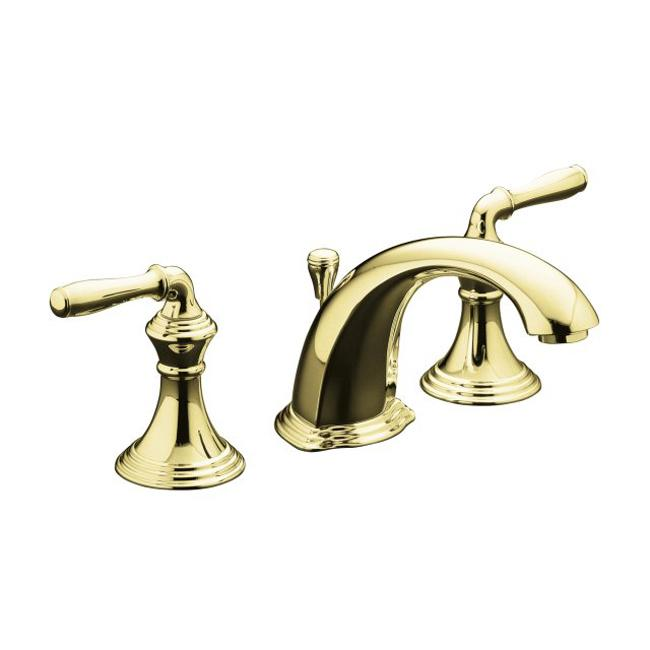 Polished brass widespread bathroom faucet - Kohler K 394 4 Pb Vibrant Polished Brass Devonshire