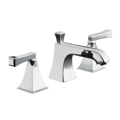 Kohler K 454 4v Cp Polished Chrome Memoirs Widespread Lavatory Faucet With Stately