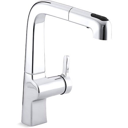 Shop Kohler K 6331 Cp Polished Chrome Evoke Single Control Pullout