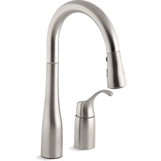Kohler K-649-VS Vibrant Stainless Simplice Pull-Down Secondary Sink Faucet