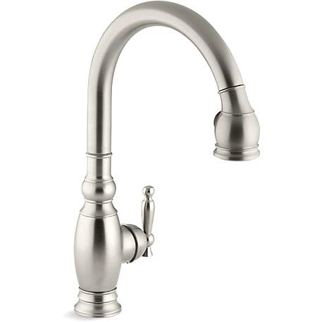 Kohler K 690 BN Vibrant Brushed Nickel Vinnata Kitchen Sink Faucet