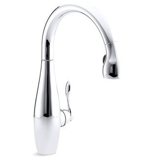 Kohler K-692-CP Polished Chrome Clairette Kitchen Sink Faucet