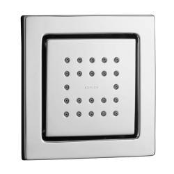 Kohler K-8003-CP Polished Chrome Watertile Square 22-Nozzle Bodyspray