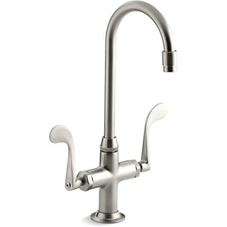 Clearance. Kohler K 8761 BN Vibrant Brushed Nickel Essex Entertainment Sink  Faucet With Wristblade Handles
