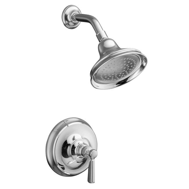 Kohler K-T10583-4-CP Polished Chrome Bancroft Rite-Temp Pressure-Balancing Shower Faucet Trim With M