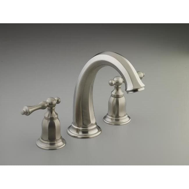 Shop Kohler Vibrant Brushed Nickel Kelston Deck Mount Bath Faucet Trim Free