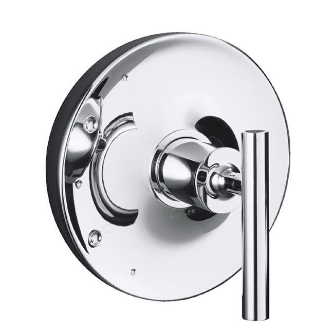 Kohler K-T14423-4-CP Polished Chrome Purist Rite-Temp Valve Trim With Cross Handle, Valve Not Included