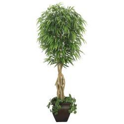 Laura Ashley 7-foot Artificial Willow Ficus Tree - Thumbnail 2